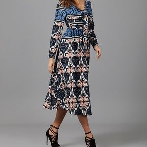 Abstract Front Knot Dress
